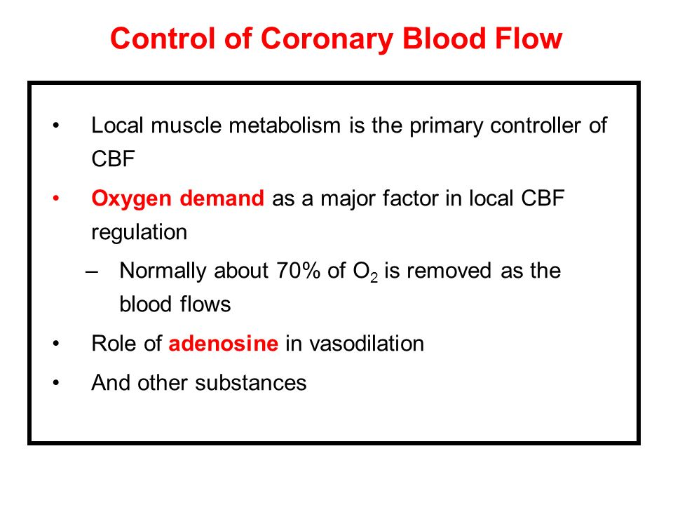 Control of Coronary Blood Flow
