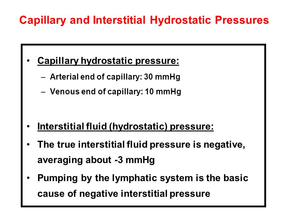 Capillary and Interstitial Hydrostatic Pressures