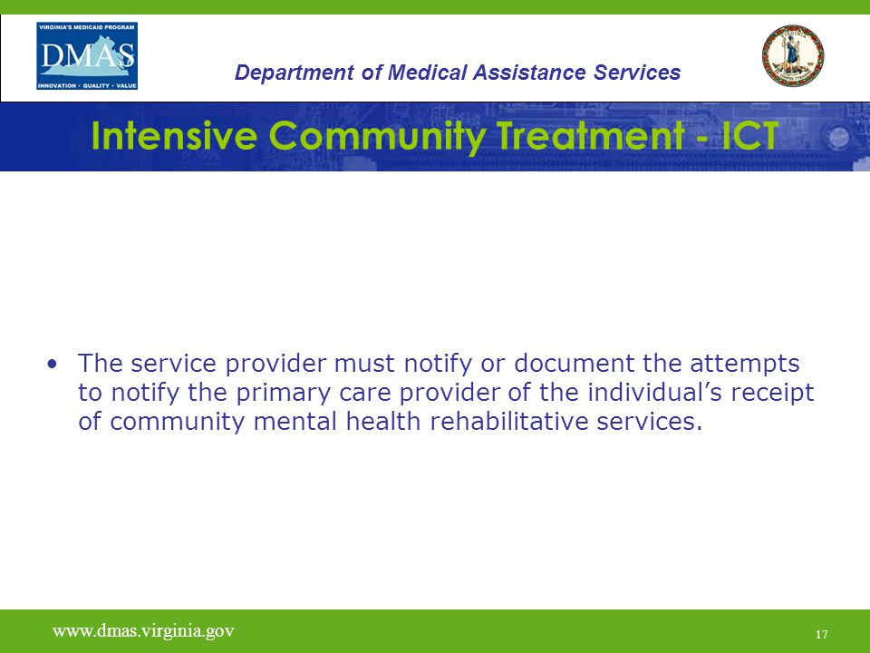 Intensive Community Treatment - ICT