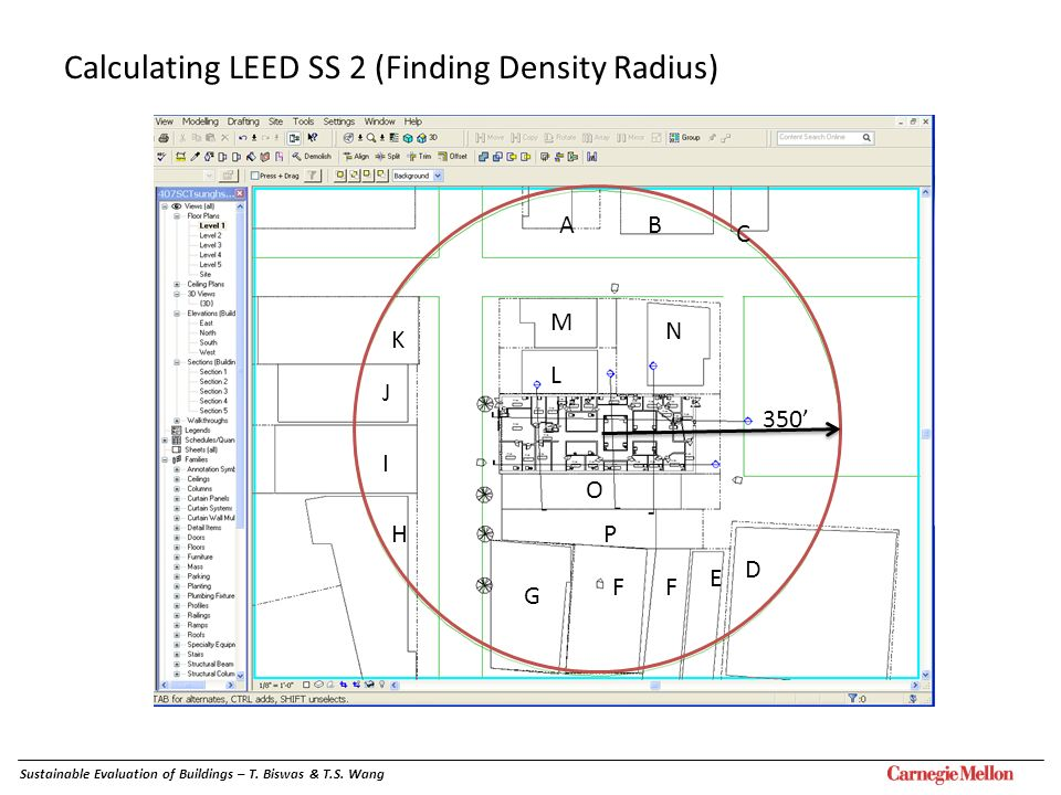 Calculating LEED SS 2 (Finding Density Radius)