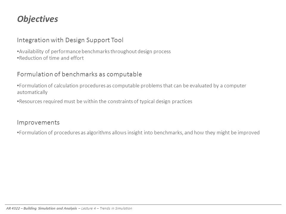 Objectives Integration with Design Support Tool