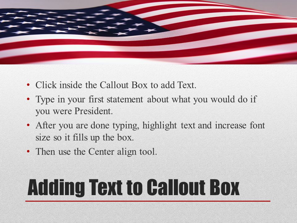 Adding Text to Callout Box