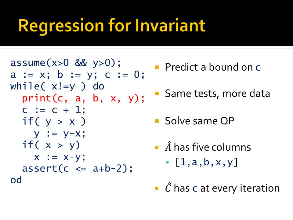 Regression for Invariant