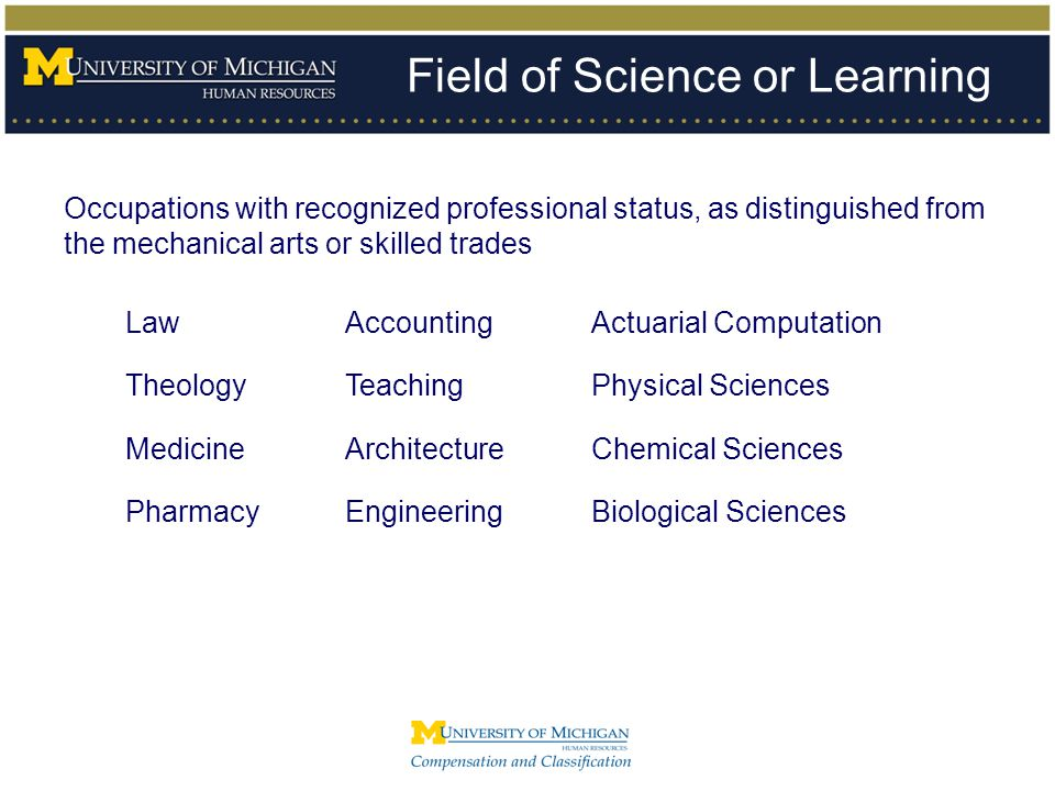 Field of Science or Learning