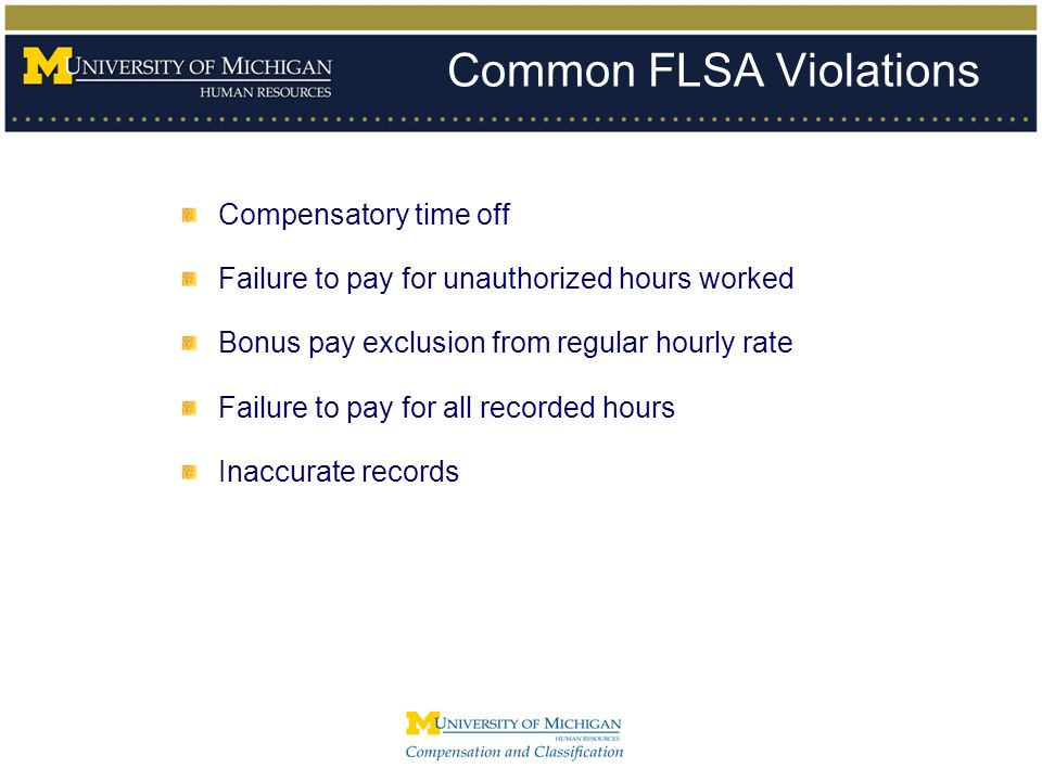Common FLSA Violations