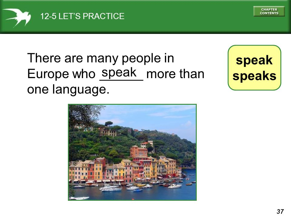 There are many people in Europe who ______ more than one language.