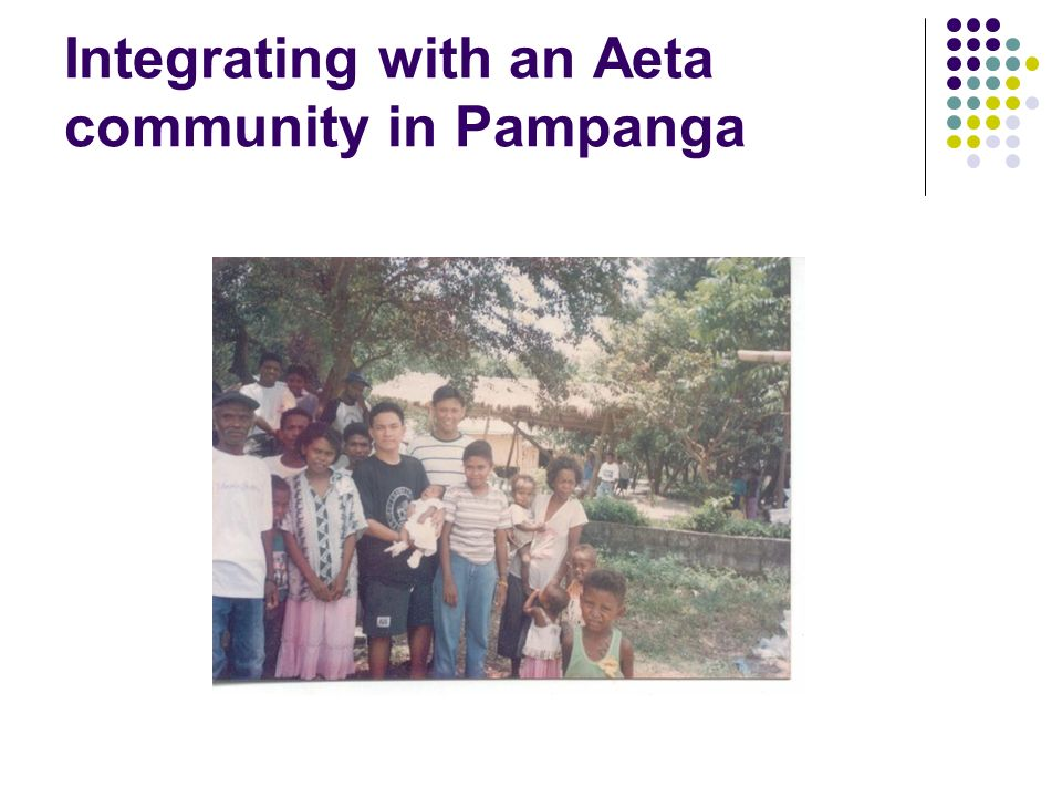 Integrating with an Aeta community in Pampanga