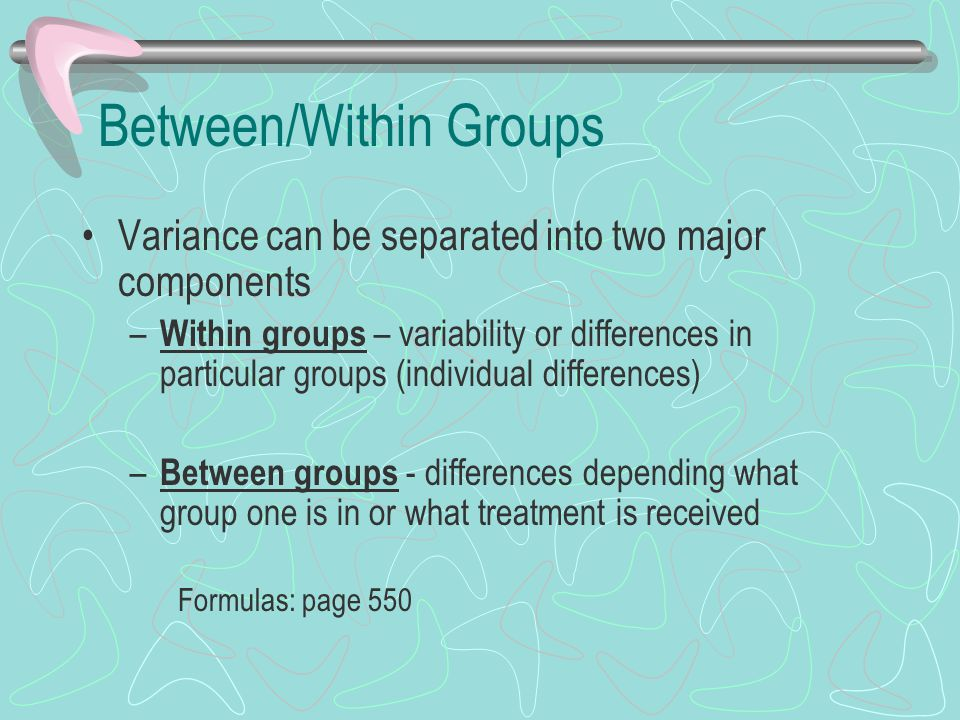 Between/Within Groups