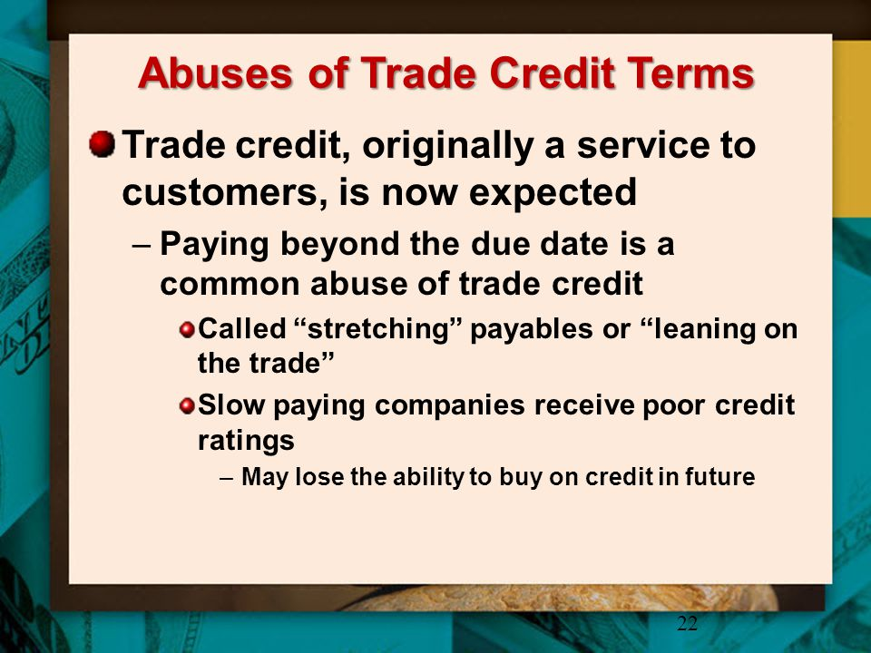 Abuses of Trade Credit Terms