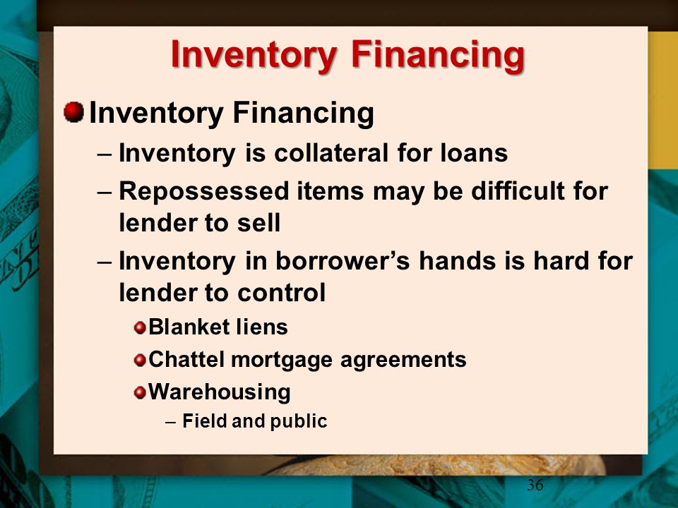 Inventory Financing Inventory Financing