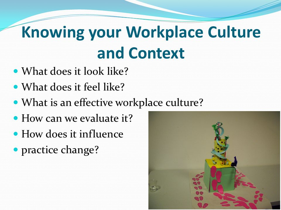 Knowing your Workplace Culture and Context