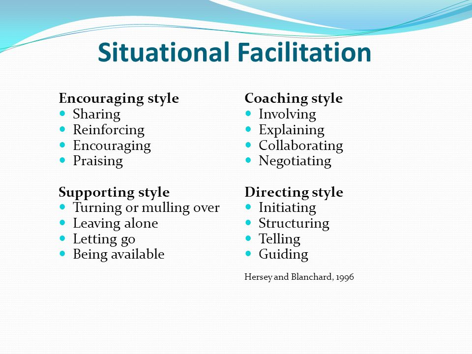 Situational Facilitation