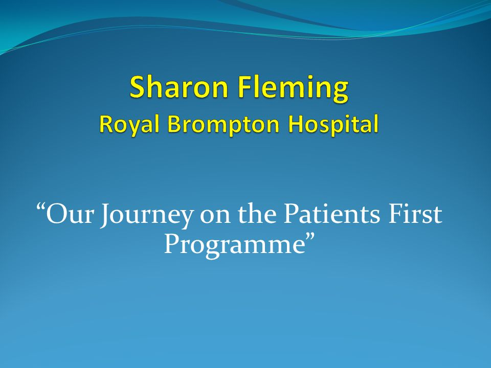 Sharon Fleming Royal Brompton Hospital