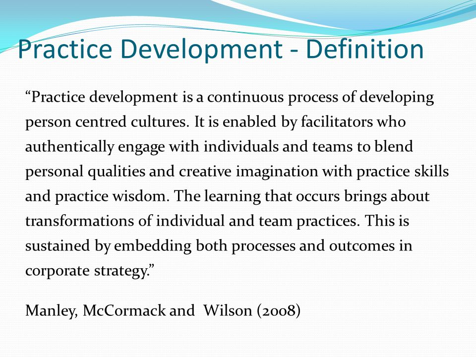 Practice Development - Definition