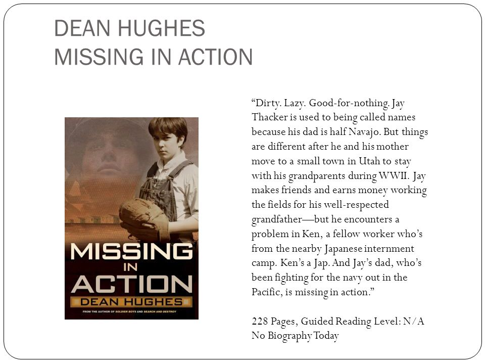 DEAN HUGHES MISSING IN ACTION