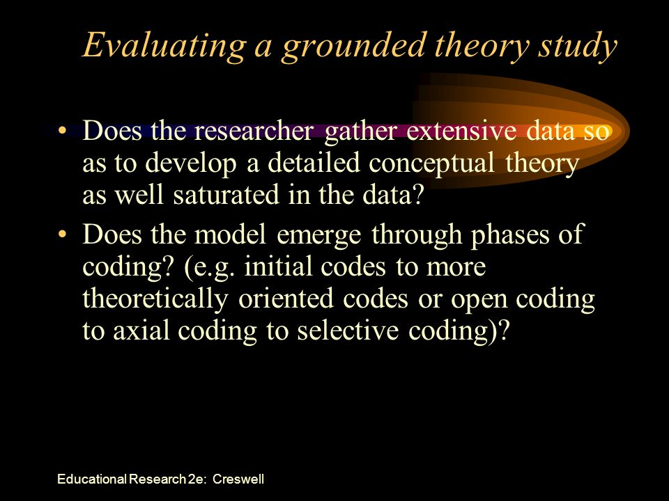 Evaluating a grounded theory study