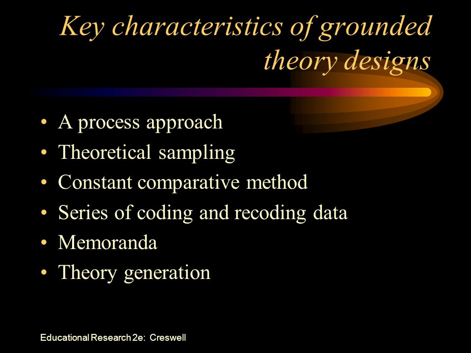 Key characteristics of grounded theory designs
