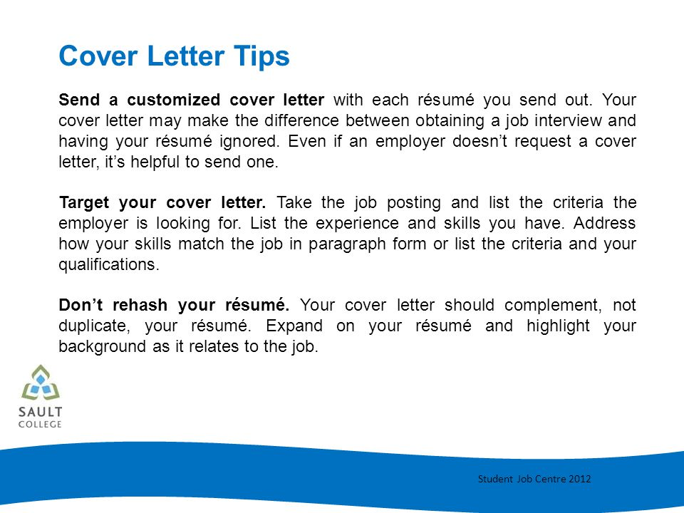 Cover Letter Writing Ppt Video Online Download