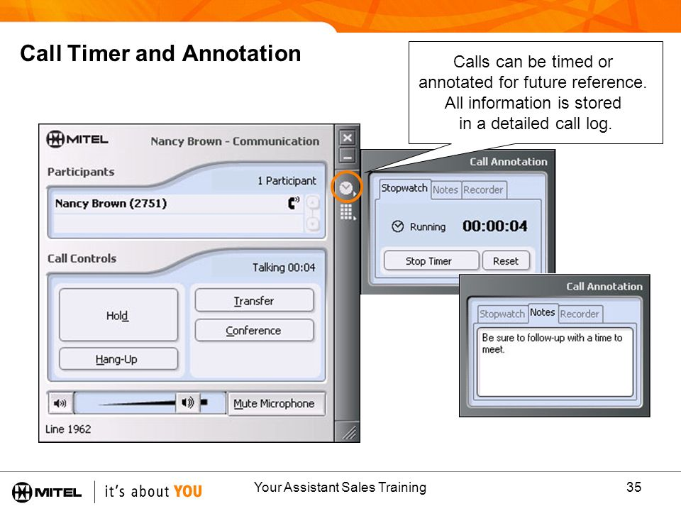 Call Timer and Annotation