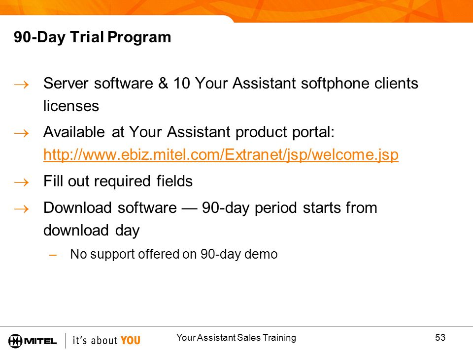 Your Assistant Sales Training