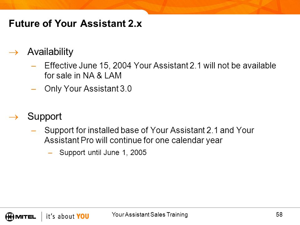 Future of Your Assistant 2.x