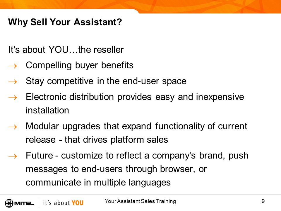 Why Sell Your Assistant