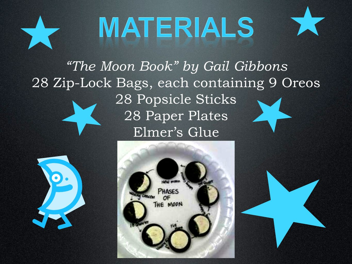 Materials The Moon Book by Gail Gibbons