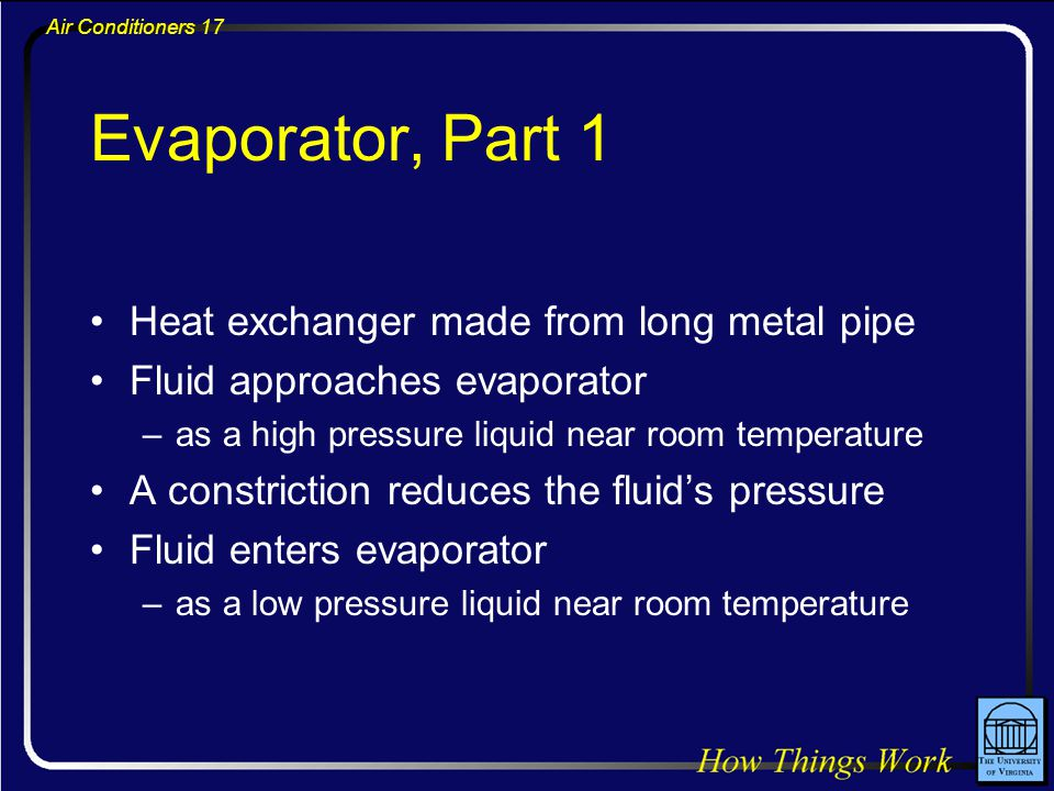 Evaporator, Part 1 Heat exchanger made from long metal pipe