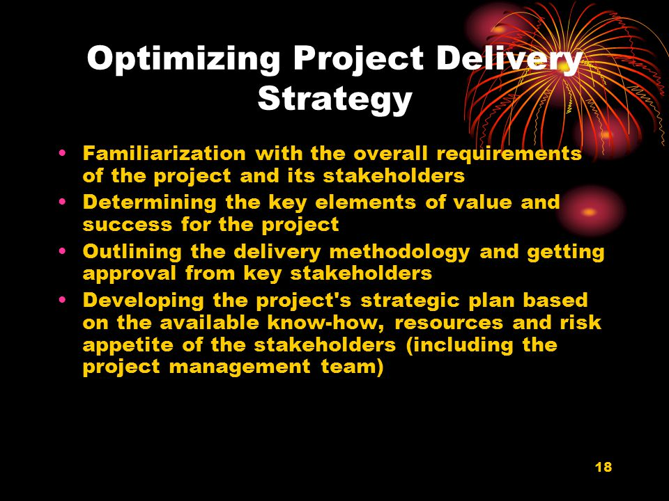 Optimizing Project Delivery Strategy