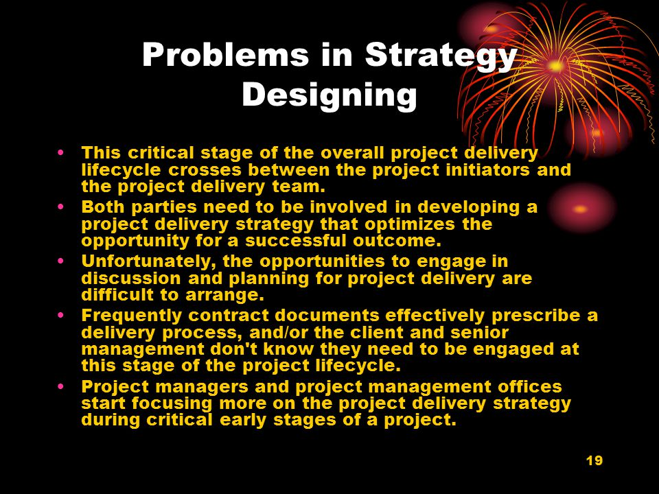 Problems in Strategy Designing
