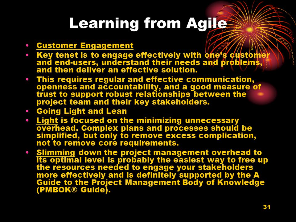 Learning from Agile Customer Engagement