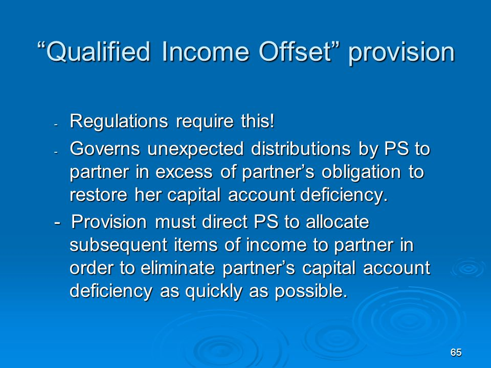 Qualified Income Offset provision