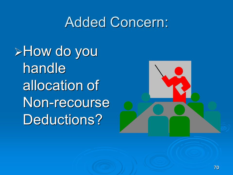 Added Concern: How do you handle allocation of Non-recourse Deductions
