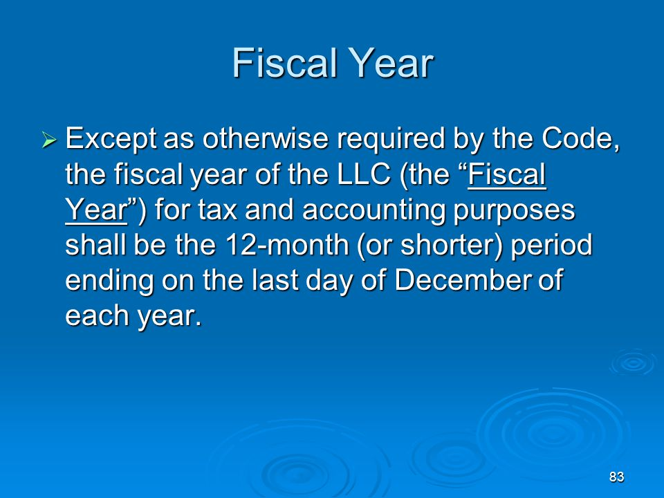 Fiscal Year