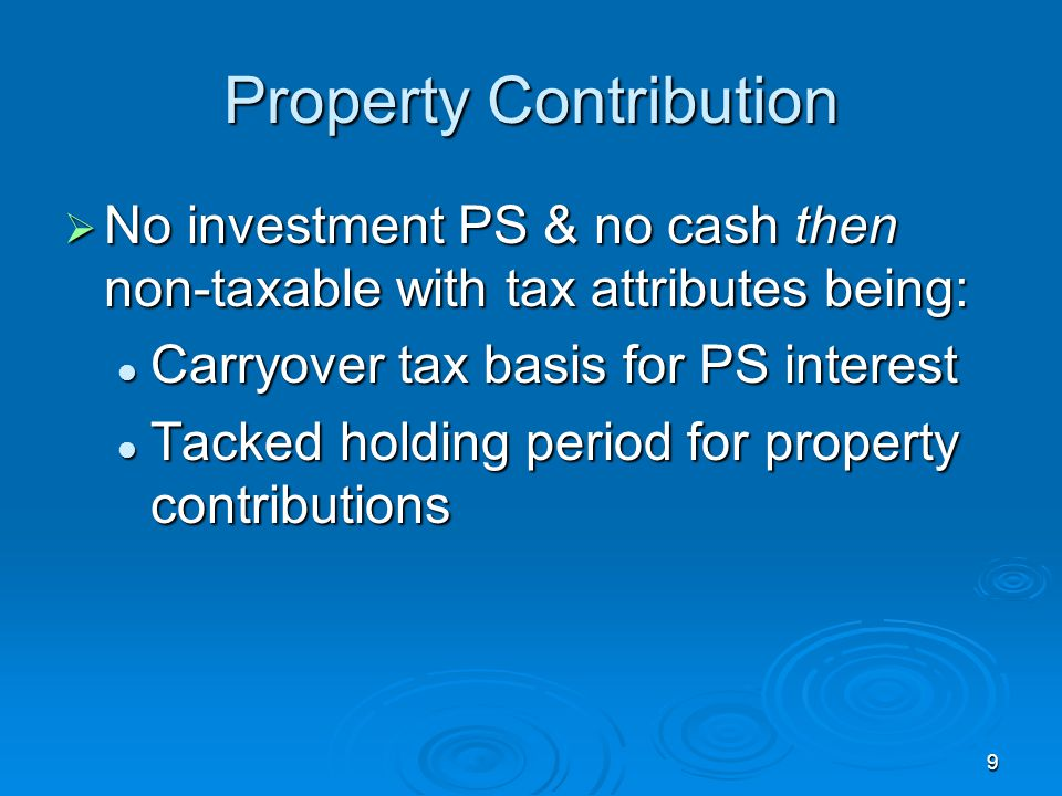 Property Contribution