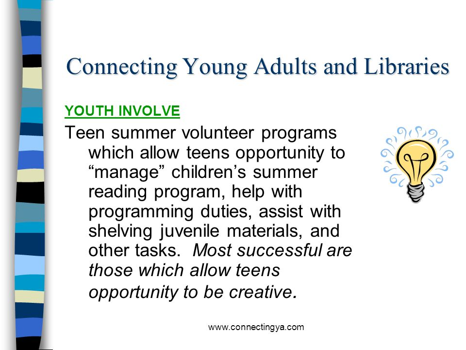 Connecting Young Adults and Libraries