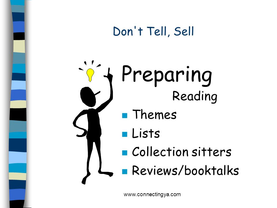 Preparing Reading Themes Lists Collection sitters Reviews/booktalks