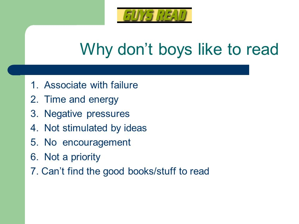 Why don't boys like to read