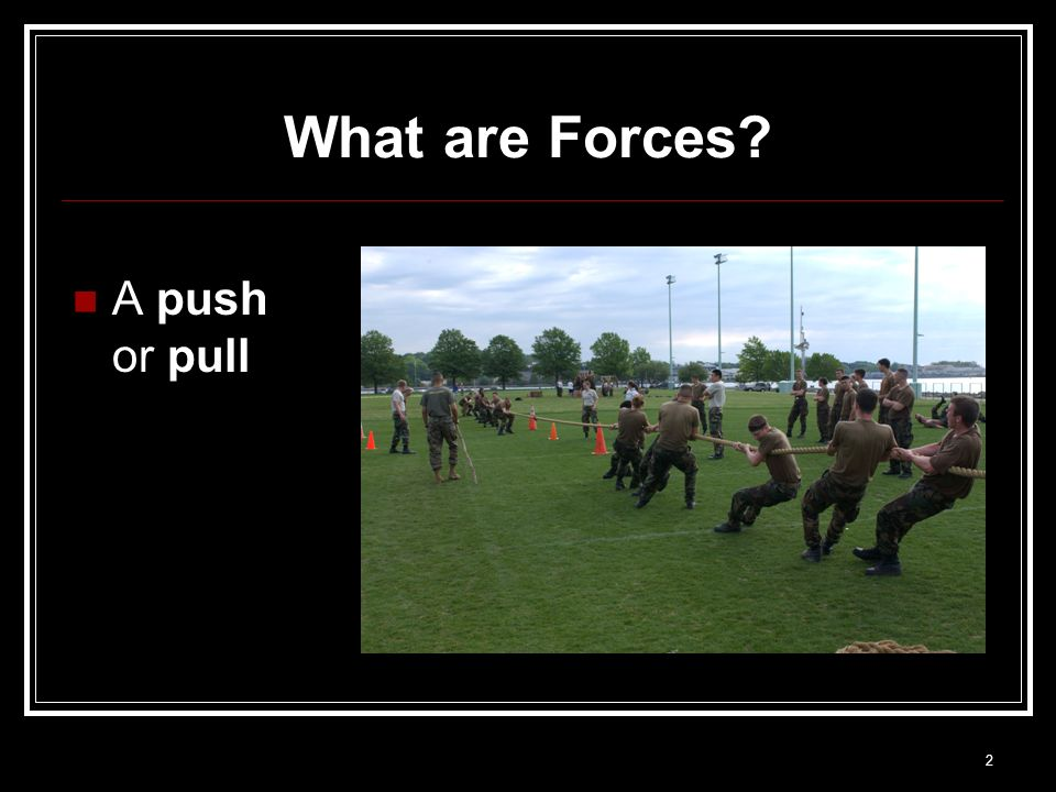 What are Forces A push or pull