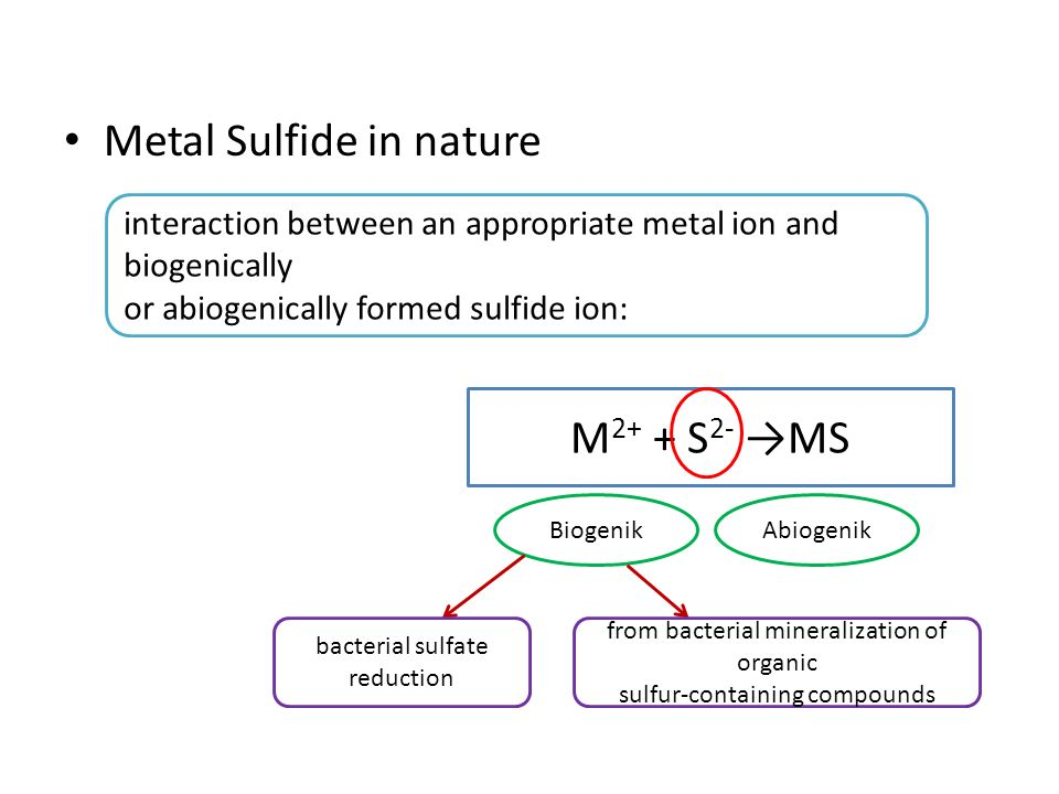 Metal Sulfide in nature