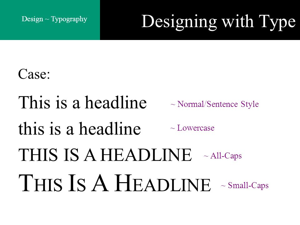 Designing with Type This is a headline this is a headline