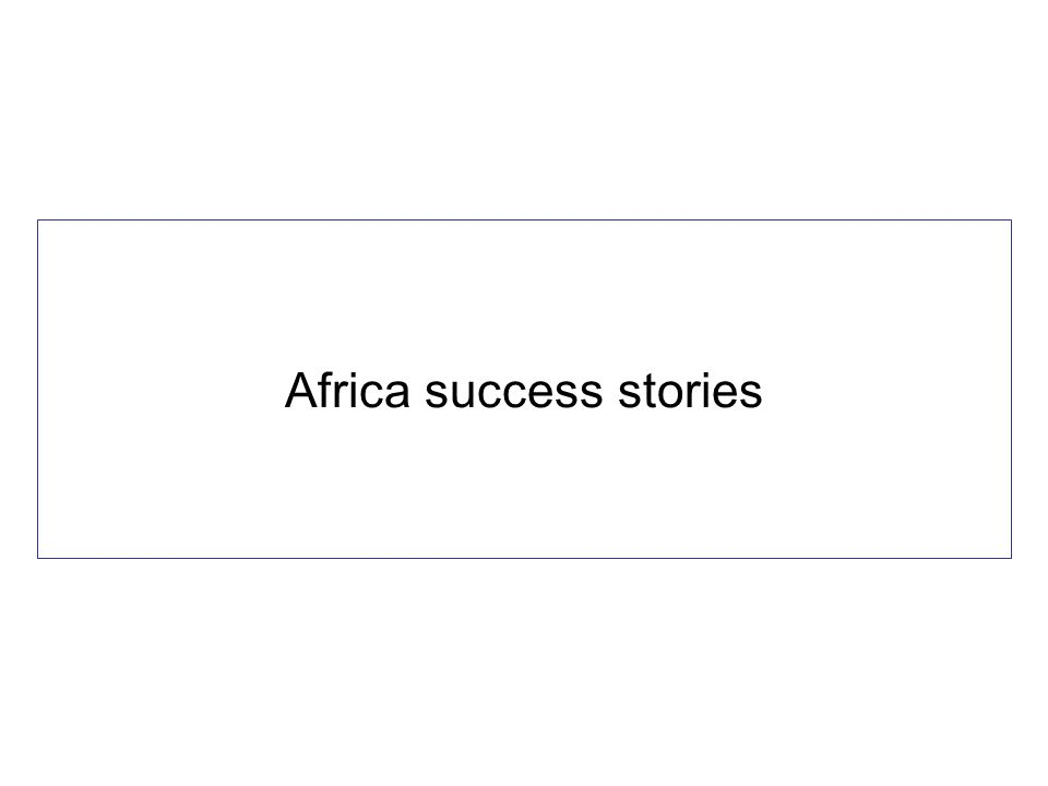 Africa success stories