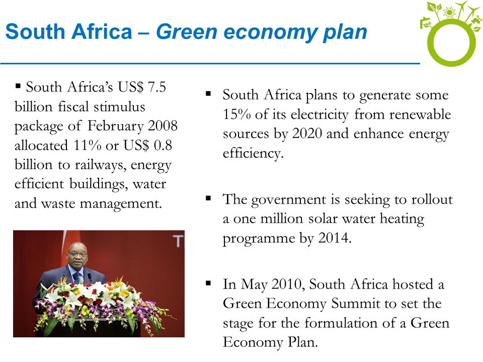 South Africa – Green economy plan