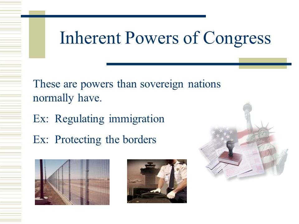 Inherent Powers of Congress