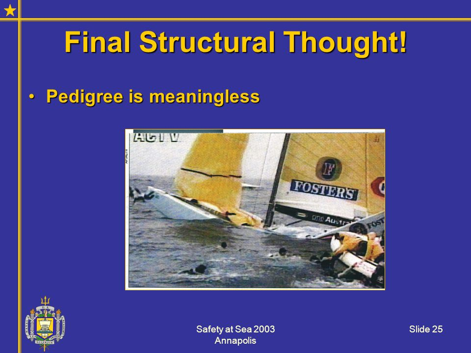 Final Structural Thought!