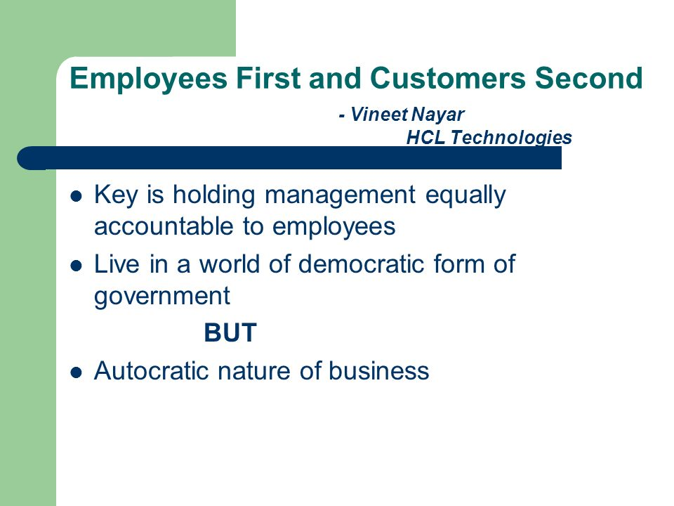 Employees First and Customers Second - Vineet Nayar HCL Technologies