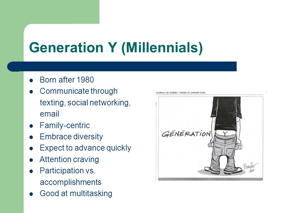 Generation Y (Millennials)