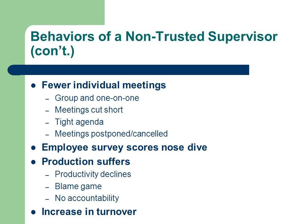 Behaviors of a Non-Trusted Supervisor (con't.)