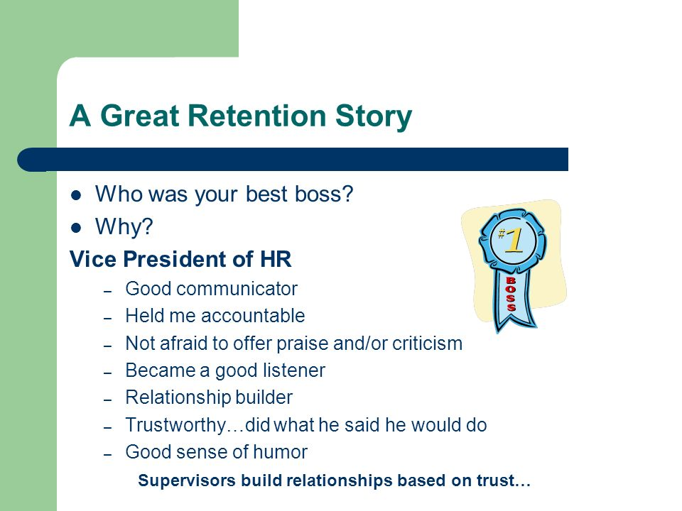 A Great Retention Story