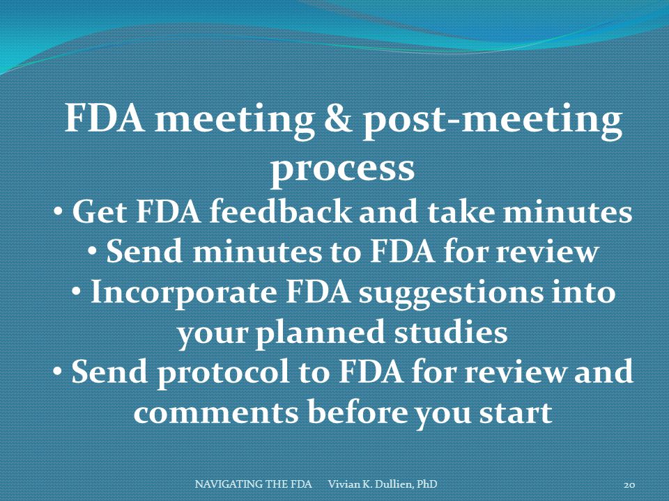 FDA meeting & post-meeting process